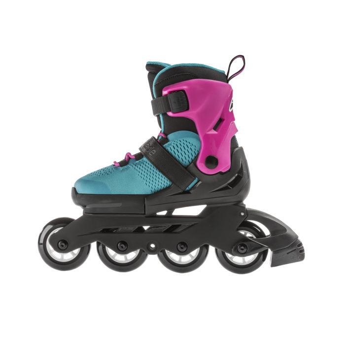 Детские ролики Rollerblade Microblade G pink emerald green 2020