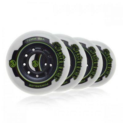 Колеса для роликов Powerslide Defcon Dual Density 80mm/78-85a white