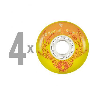 Колеса для роликов Undercover Deer 76mm/86a Full Radius - Yellow