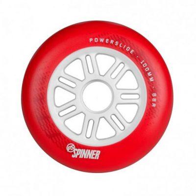 Колеса для роликов Powerslide Spinner 100mm/88a Full Profile Red (1шт)