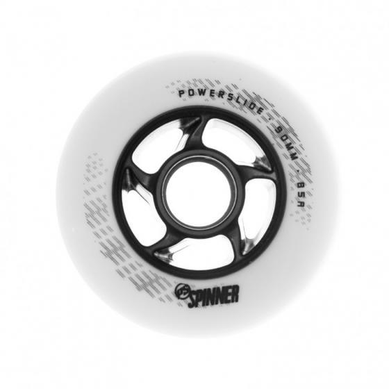 Колеса для роликов Powerslide Spinner 90mm/85a bullet Profile White (1 шт)