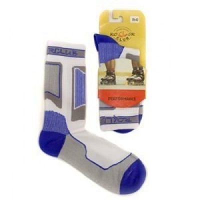 Носки для роликов Rollerclub Perfomance (Бело-Голубые)