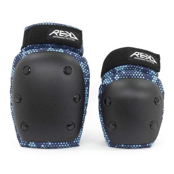 Комплект защиты REKD Heavy Duty Double Jr black-blue
