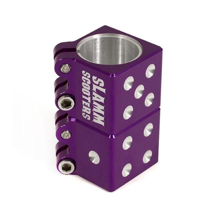 Хомут для самоката Slamm Dice Clamp purple