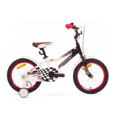Десткий велосипед Romet Salto 16 black-white