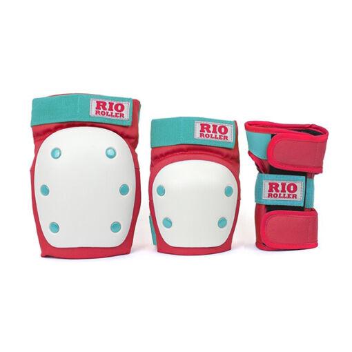Комплект захисту Rio Roller Triple Pad Set red-mint