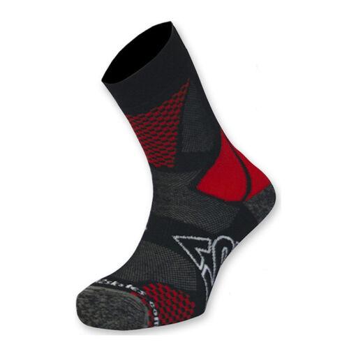 Шкарпетки для роликів K2 fitness skate socks black-red