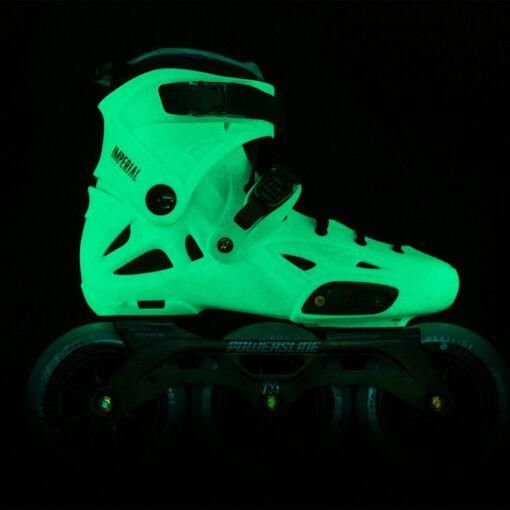 Ролики Powerslide Imperial Megacruiser 125 Jade (ролики які світяться в темряві)