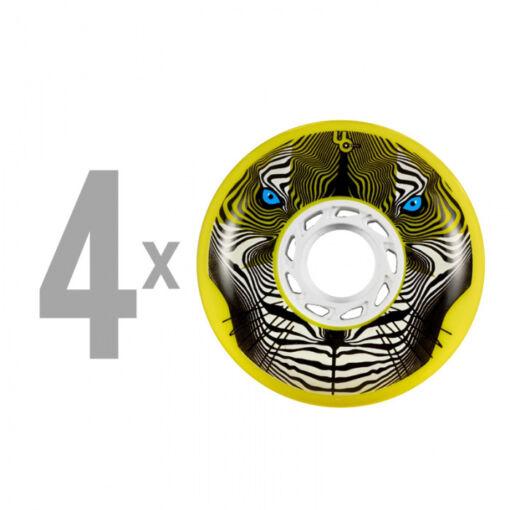 Колеса для роликів Undercover Tiger 80mm/86a Bullet Radius – Yellow