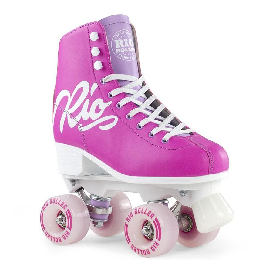 Ролики квады Rio Roller Script pink-lilac
