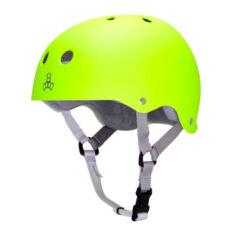 Шлем Triple Eight Brainsaver Rubber Neon Zest