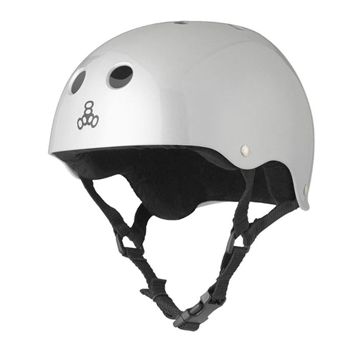 Шлем Triple Eight Brainsaver Silver