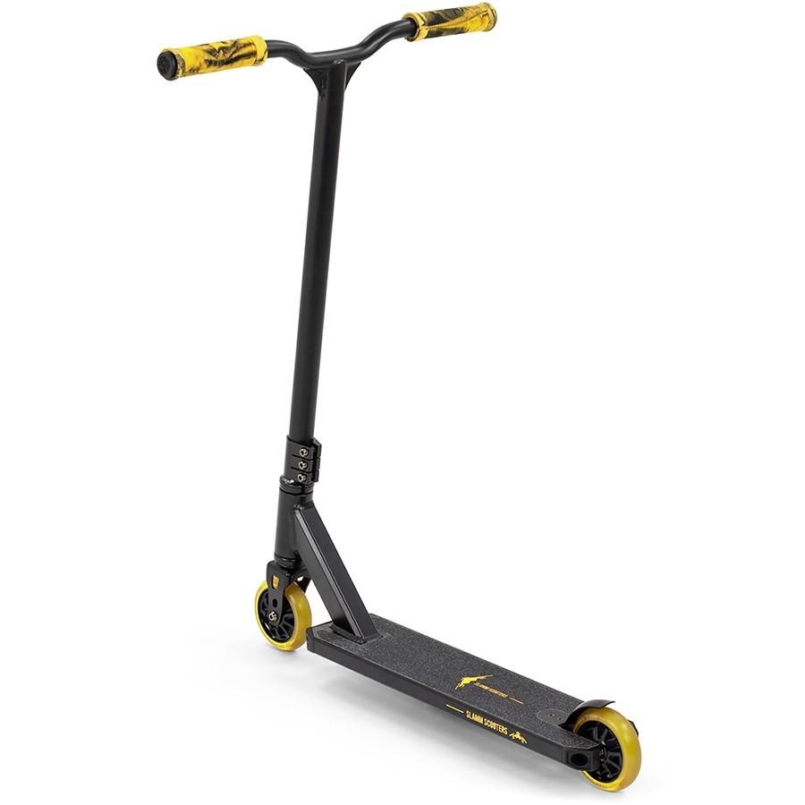 Трюковый самокат Slamm Classic V8 black-yellow