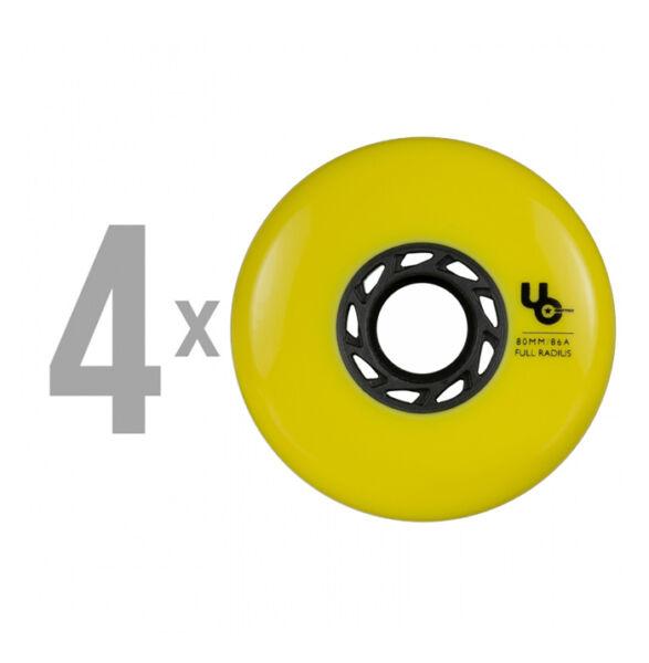 Колеса для роликов UNDERCOVER Blank Yellow 80mm/86A