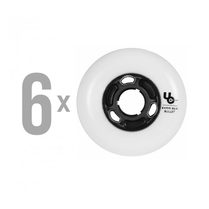 Колеса для роликов UNDERCOVER TEAM White 84mm/86A (6 шт)
