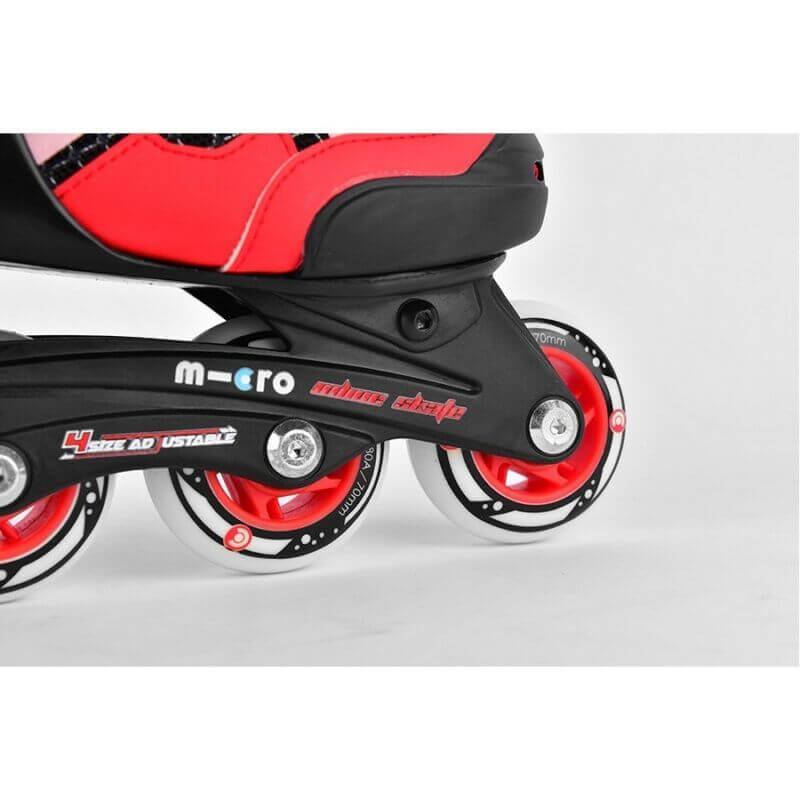Детские ролики Micro Majority red-black