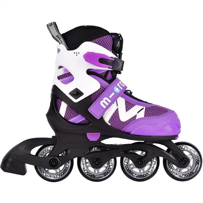 Детские ролики Micro Shaper NEW purple-white